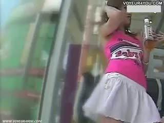 White Panties Underneath The Skirt