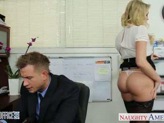 Sexy kantoor babe mia malkova neuken