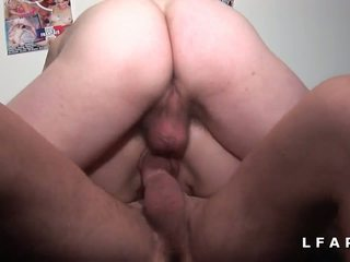 quality double penetration fuck, french scene, anal fuck