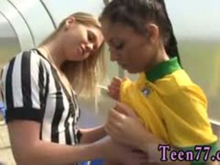 Blonde Tickle Brazilian Player Humping The Referee