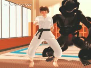 Karate Hentai Anime Girl Sucks Monsters Big Dick