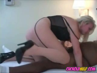 Cuckold MILF Sucking and Fucking BBC Sissy Cleans up...