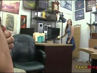 Naomi Alice Blowjob On SpyCam At Pawnshop