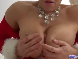 Milf Trip - Hot Milf With Big Tits and Ass Dressed in Santa Outfit - Part 1
