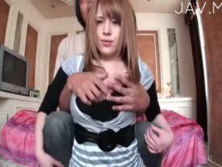 vol realiteit, japanse thumbnail, vers grote borsten video-