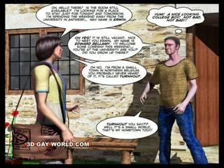Room para upa tatlong-dimensiyonal bakla animated komika comics