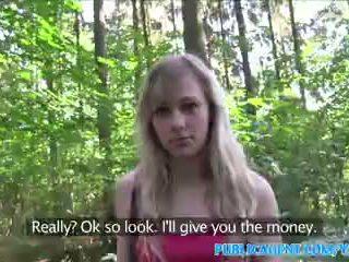 PublicAgent Blonde student fucks a stranger for cash