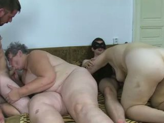 OldNanny Group sex chubby granny and fat mature a