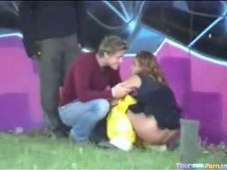 Drunk Babe Peeing In Public