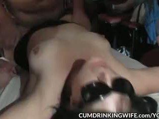 Slutwife gangbanged by 100 guys