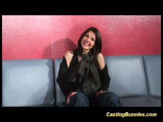 Casting brunette bunny fucked