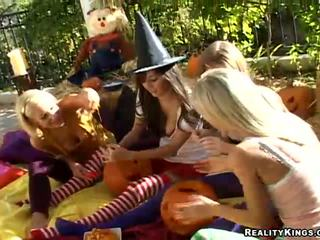 April Oneil and Sammie Rhodes in Happy Halloween
