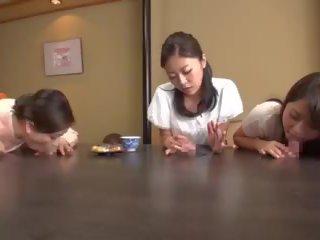 japanse, u cowgirl video-, mooi cum in de mond