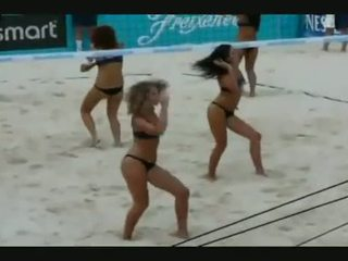 Hot Vollyball Cheerleaders Dancing Like Sluts