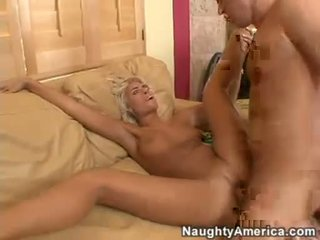 Sexy hot Danica Blue spreads her tight slits wide enough to get drilled deep