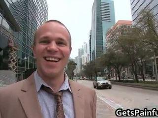 Cute gay guy blows big fat black schlong