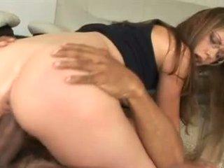 Cock sucker Alicia Alighatti munches a massive dark dick like a yummy sausage