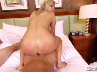 Perfect Blonde MILF from Sweden fucks two dicks.