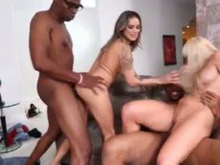 nieuw matures, meest interraciale porno, een gangbang scène