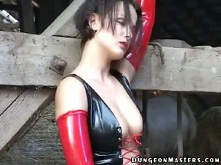 Mistress In Latex Gloves Meutzner Schmidt Touching Body With Lust