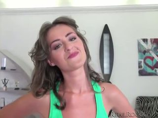 Rocco and Kendras rough fuck pov style while she gasps from sheer pleasure