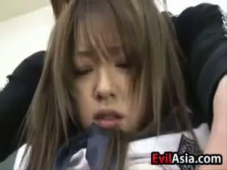 Asiática aluna gets creampied
