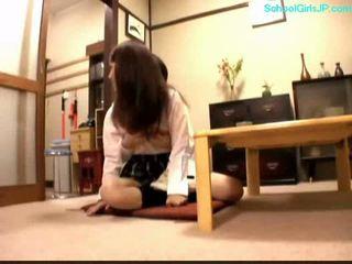 student, mladý, japonec, dívka