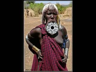 Nigerian প্রাকৃতিক আফ্রিকান বালিকা