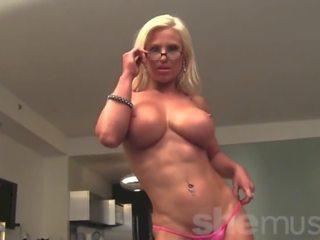 Muscular Blonde Megan Avalon gets Naked, Porn 24