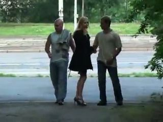 Julie Silver and her threesome sex in a park