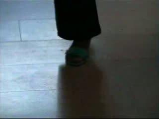 German milf blue shoejob