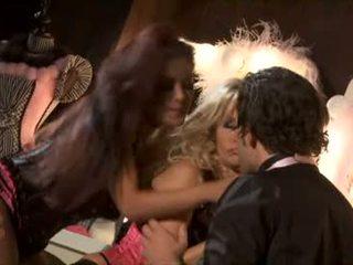 brunette porno, een orale seks video-, mooi groepsseks