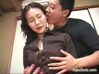 Gorgeous Mature Asian Bitch Sucks Part2