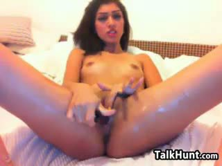 brunette actie, meest speelgoed, groot webcam neuken