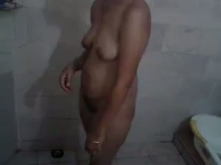 Sexy Indian Wife Bathing