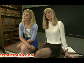 Beautiful Blonde Tranny with a Beautiful Blonde Girl