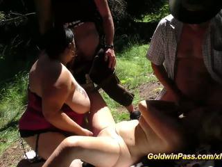 Lederhosen Gangbang in Nature, Free BBW Porn e3