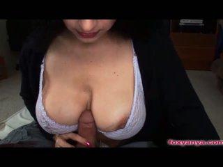 see brunette hot, melons, big boobs