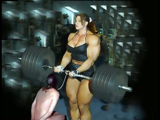 Female kulturistika fbb bodybuilder bbw ženská dominancia