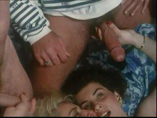 groepsseks video-, wijnoogst vid, orgie film