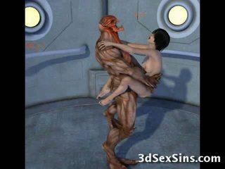 Creatures pieprzyć 3d scifi babes!