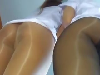 pov clip, check nylon, new pantyhose channel