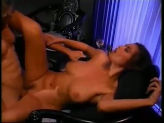 Busty babe Tera Patrick gets her tiny twat rammed hard and takes messy creampie