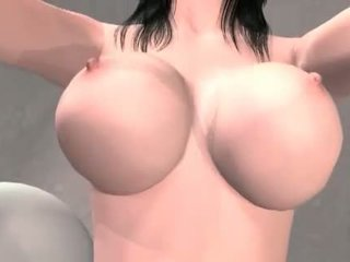 Big titted anime brunette pussy nailed hard and deep