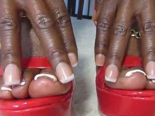 echt zwart en ebony scène, nieuw voet fetish, femdom gepost