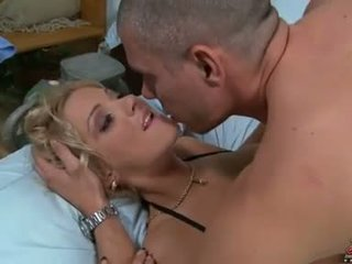 alle blondjes, pornosterren, controleren doordringend porno