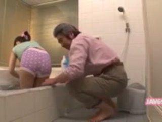 japansk, dusch, ass, trosor