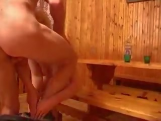 Russian Housewife Having Sex with a Neighbor.