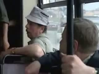 heet publiek porno, russisch, bus