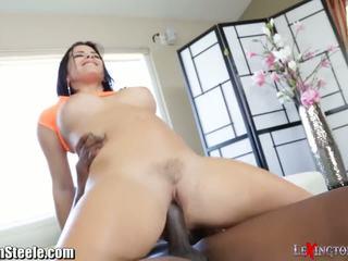 Keisha Grey Rides 11 Inch Black Cock